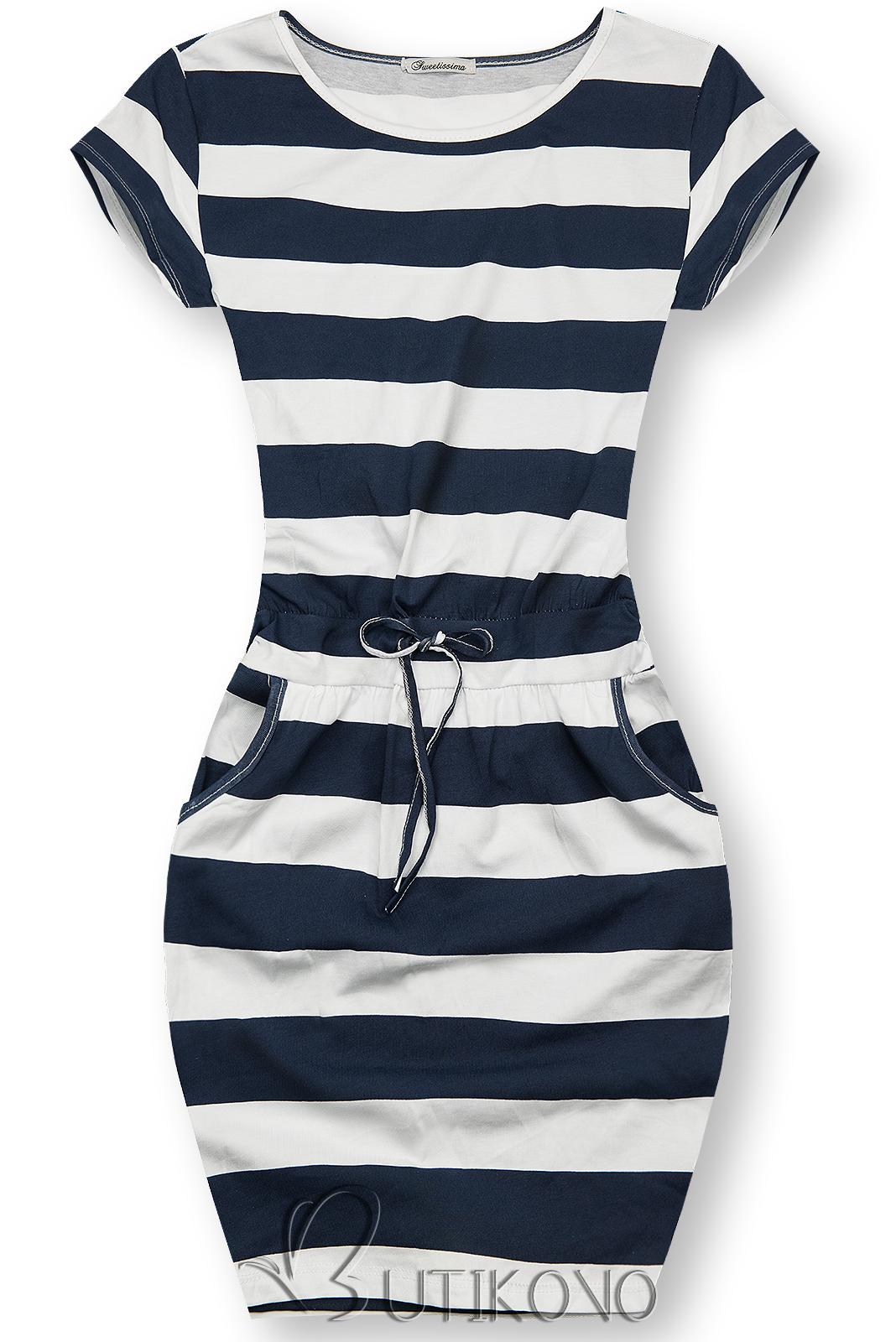 Pruhované bavlnené šaty XX.