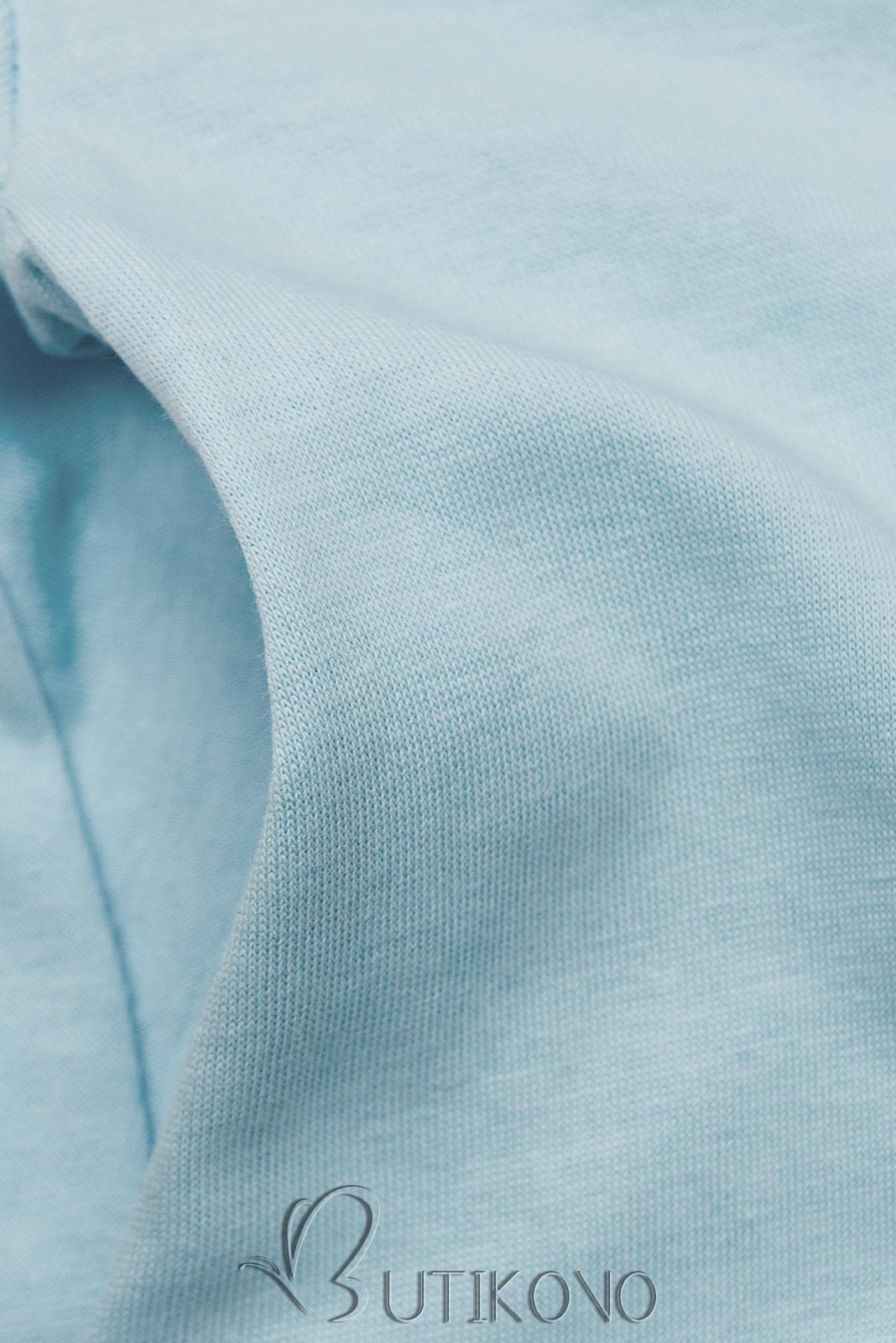 Baby blue šaty s nášivkou SUMMER