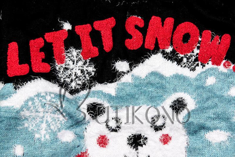 Čierny sveter LET IT SNOW