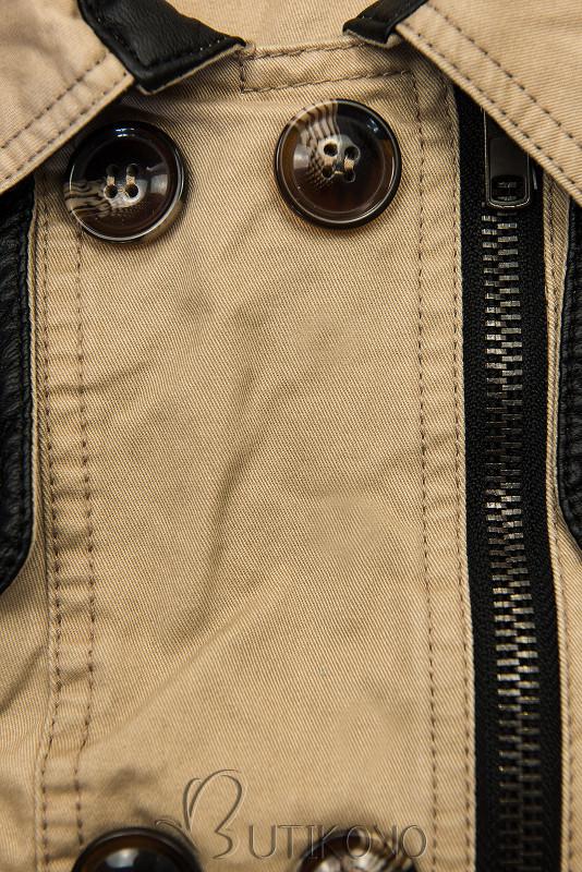 Béžový kabát/trenčkot M206