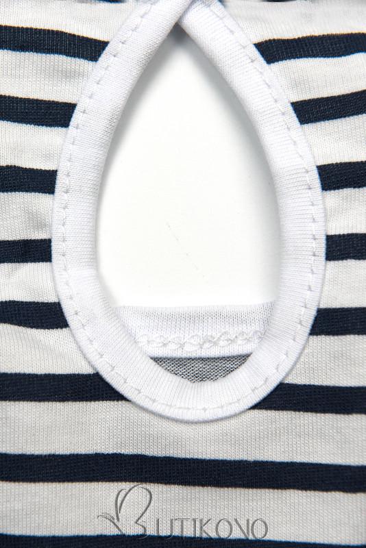 Modro-biele pruhované šaty III.