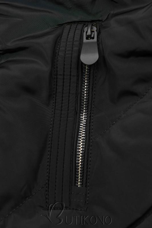 Prešívaná prechodná bunda čierna
