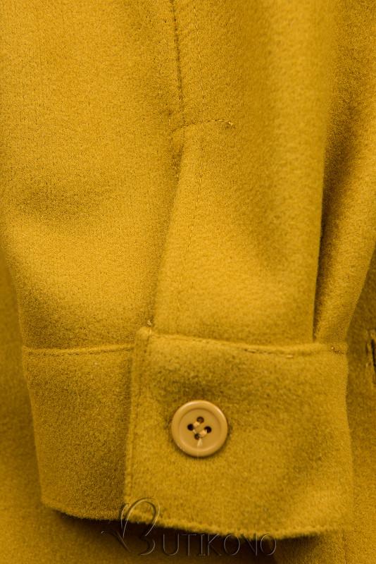 Horčicovožltý ľahký plášť