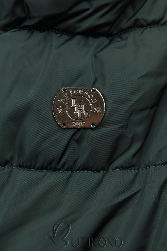 Tmavozelená zimná bunda s vysokým golierom