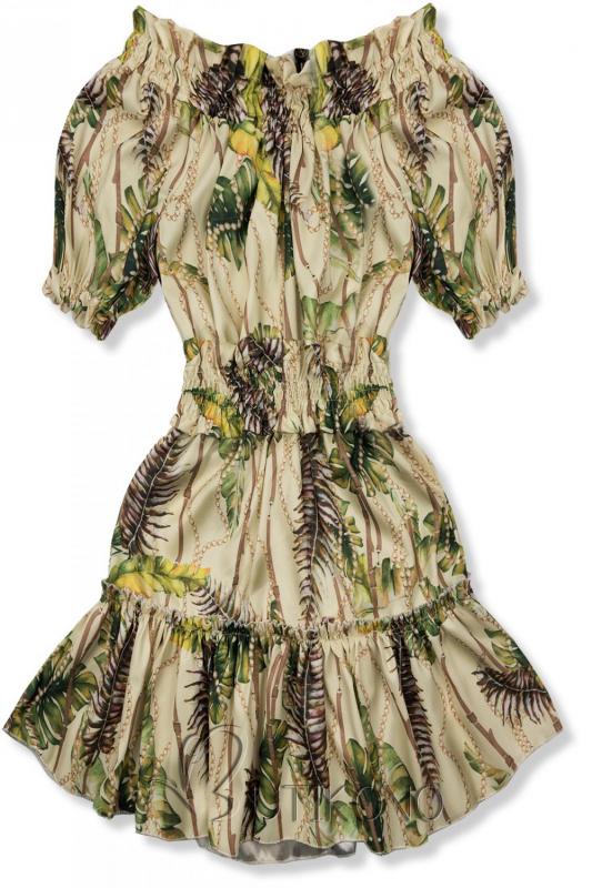 Béžovo-žlté šaty Serena/Ola Voga