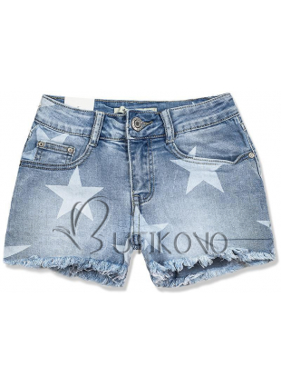 Jeans šortky s potlačou