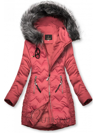 Staroružová prešívaná bunda na obdobie jeseň/zima