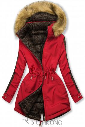 Červená prešívaná obojstranná bunda