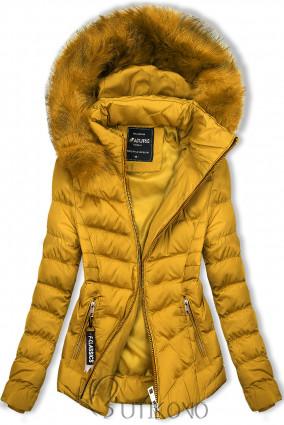 Horčicovožltá bunda na obdobie jeseň/zima