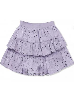 Lila bodkovaná sukňa