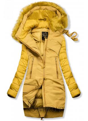 Zimná prešívaná bunda žltá