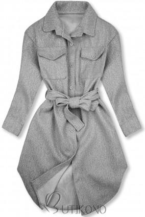 Sivý ľahký plášť
