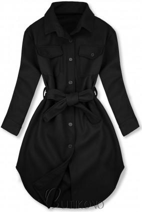 Čierny ľahký plášť