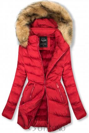 Prešívaná prechodná bunda červená