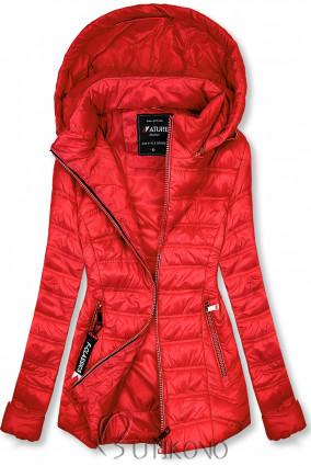Červená ľahká prechodná bunda